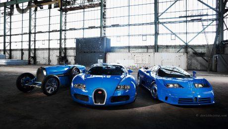 Bugatti T54, EB110 and Veyron
